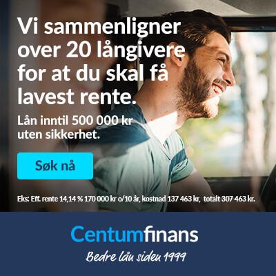 Centum Finans - Sammenlign over 20 lånegivere